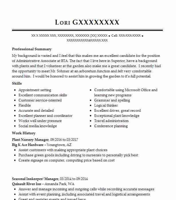 plant nursery manager resume example the place murchison horticulture college graduate Resume Horticulture Manager Resume
