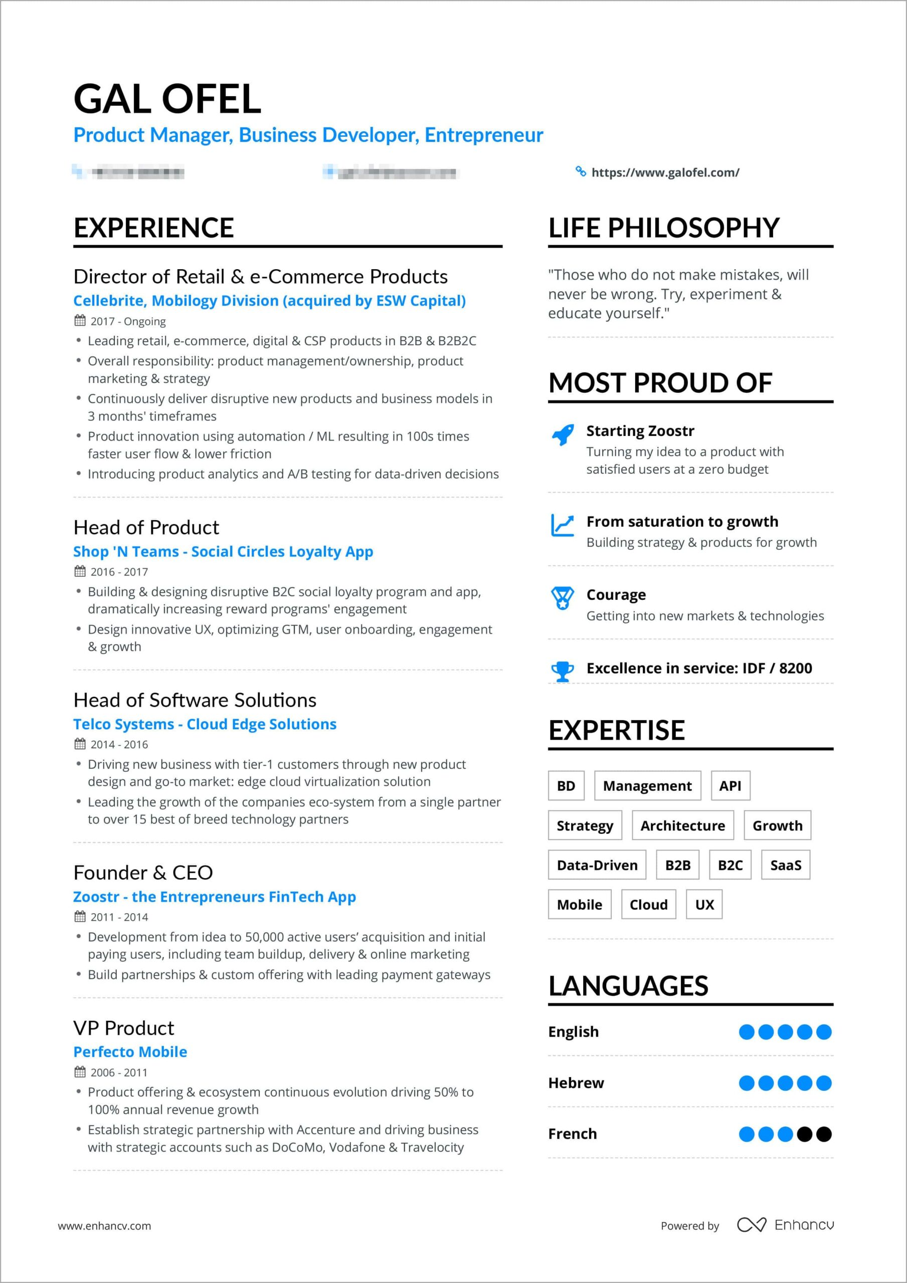 powerful one resume examples you can use now summary galofelresume bordered sample for Resume One Page Summary Resume