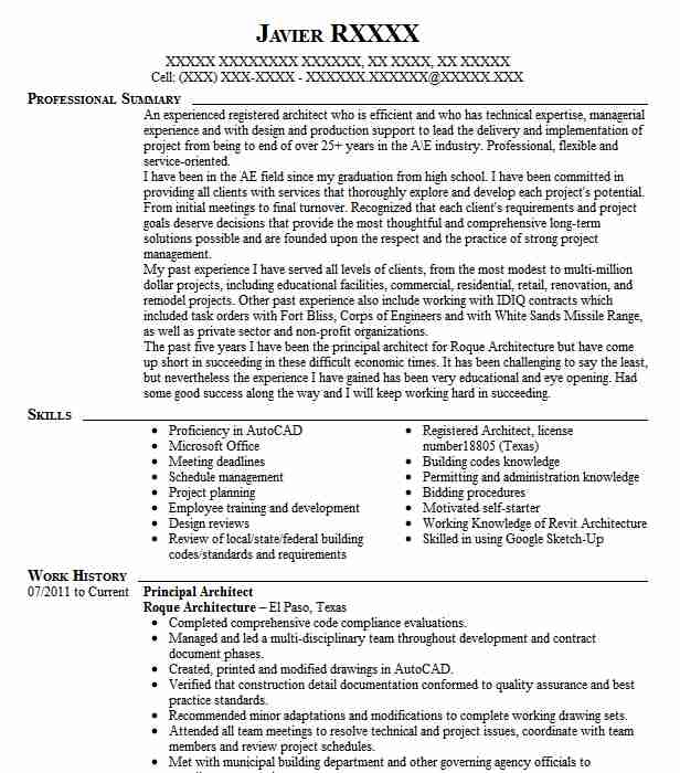 principal architect resume example puet corporation south trained new hires on skills for Resume Principal Architect Resume