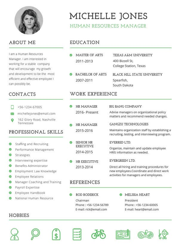 printable resume template free word pdf documents premium templates fillable professional Resume Fillable Resume Template