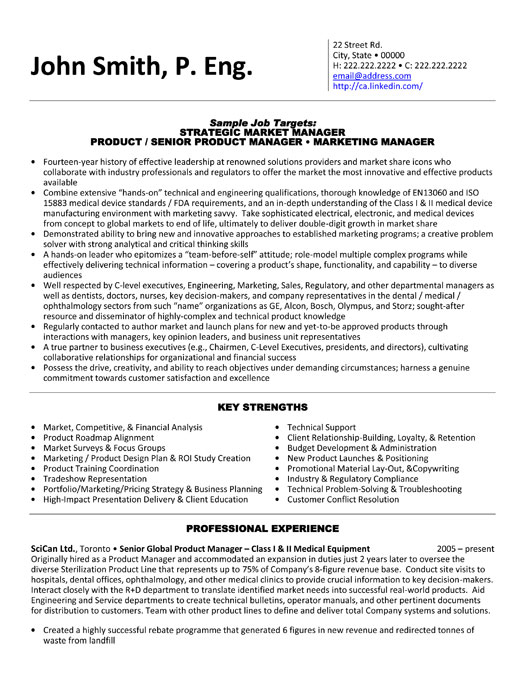 product manager resume sample template executive medical equipment data science objective Resume Product Manager Resume Template