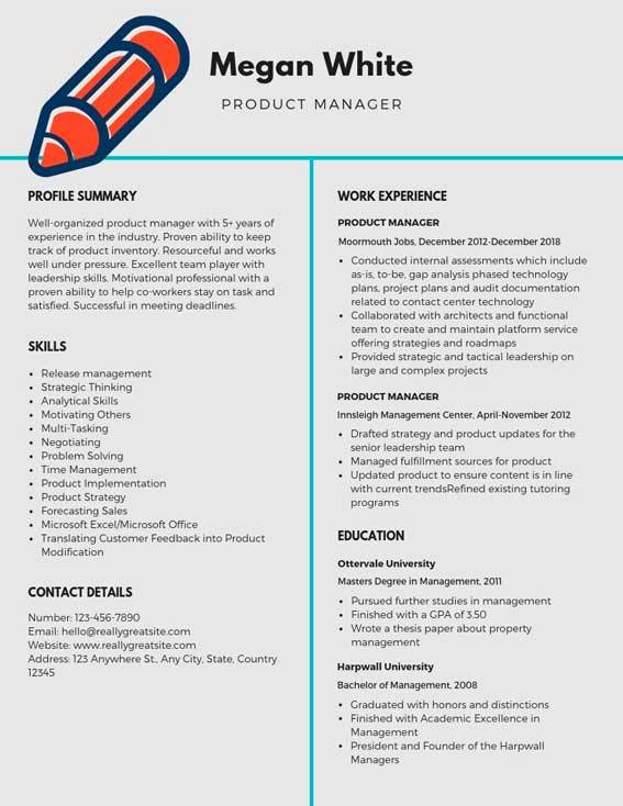 product manager resume samples templates pdf resumes bot template sample legal secretary Resume Product Manager Resume Template