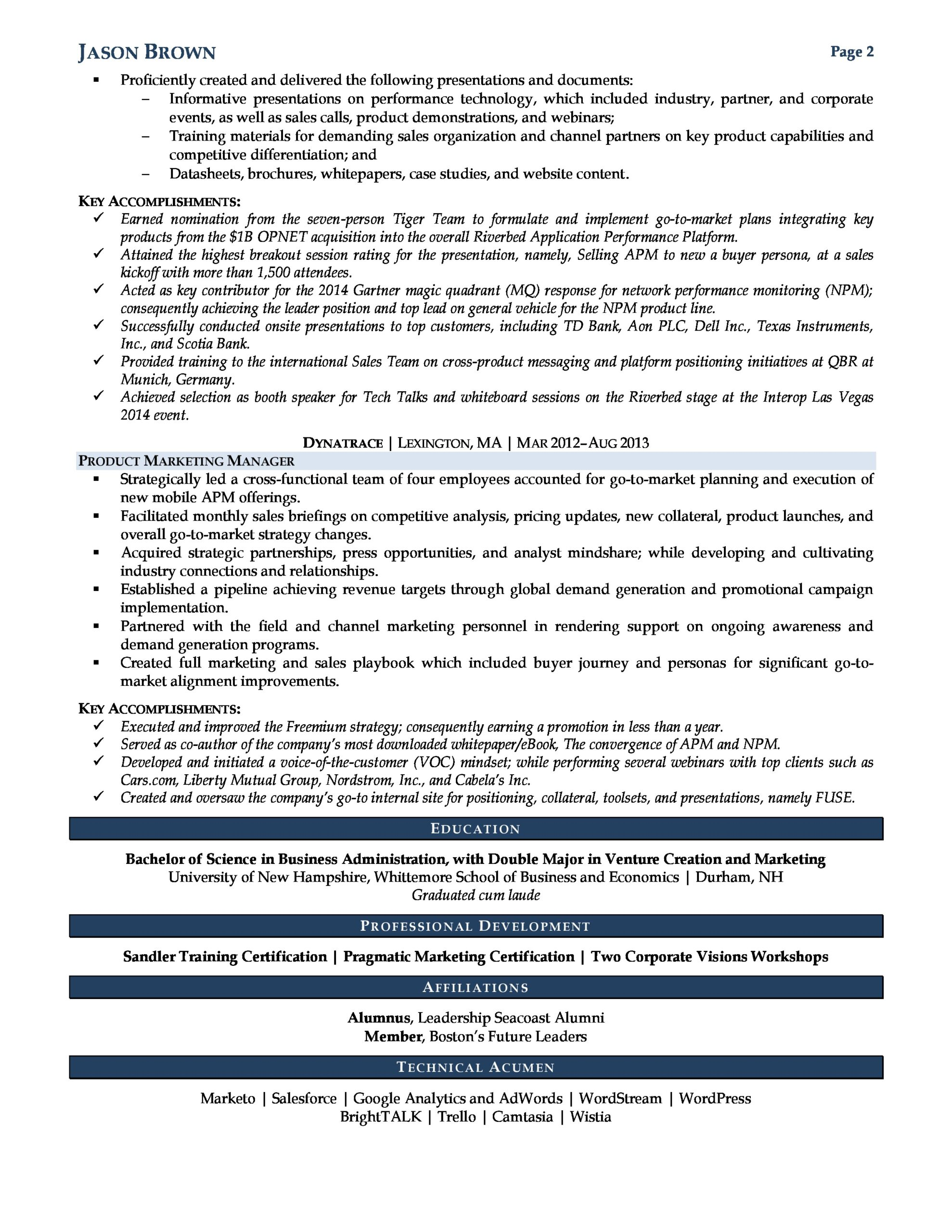 product marketing manager resume professional writers examples for fresh graduate seeking Resume Marketing Manager Resume