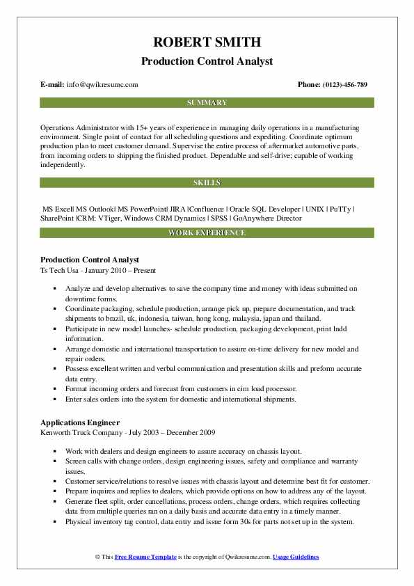 production control analyst resume samples qwikresume planning and engineer pdf writing Resume Production Planning And Control Engineer Resume Samples