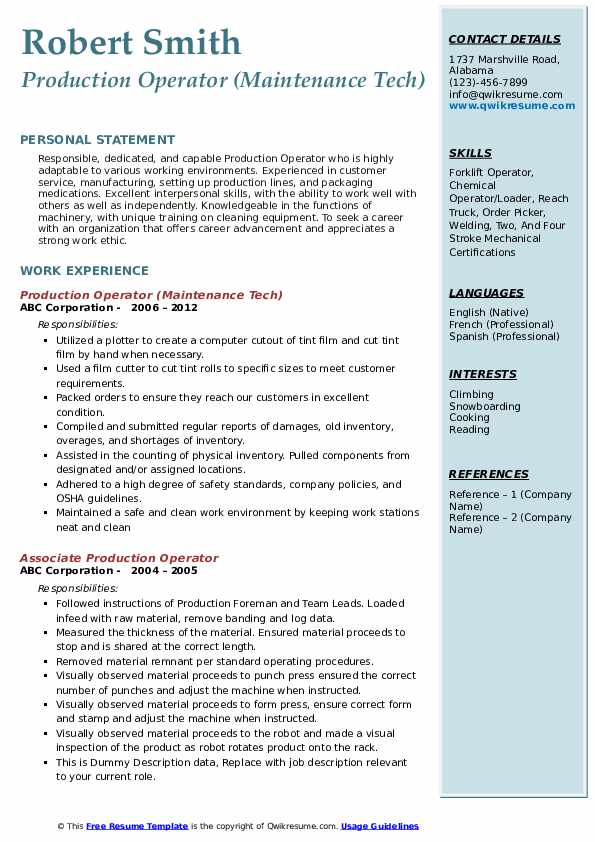 production operator resume samples qwikresume cover letter pdf paraprofessional examples Resume Production Operator Resume Cover Letter