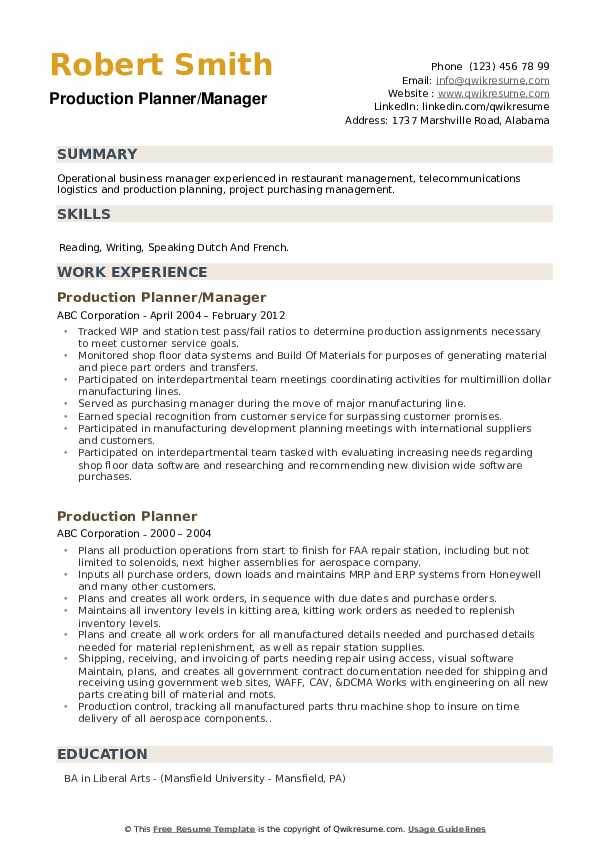 production planner resume samples qwikresume planning and control engineer pdf dental Resume Production Planning And Control Engineer Resume Samples