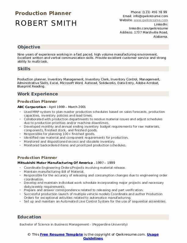 production planner resume samples qwikresume planning and control engineer pdf nanny Resume Production Planning And Control Engineer Resume Samples