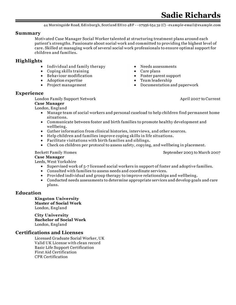 professional case manager resume examples social services livecareer nurse classic for Resume Nurse Case Manager Resume