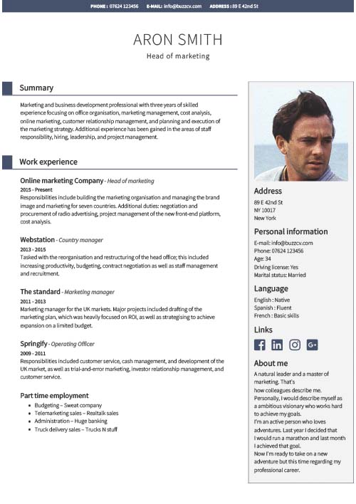professional cv templates for financial managers free template english resume manager Resume Template English Resume