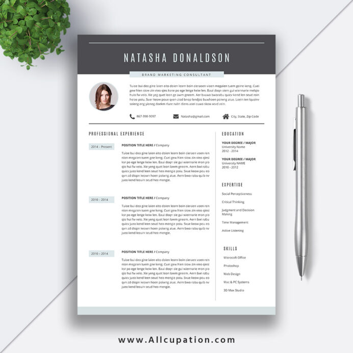 professional resume template creative cv word best design cover letter references instant Resume Good Professional Resume Template