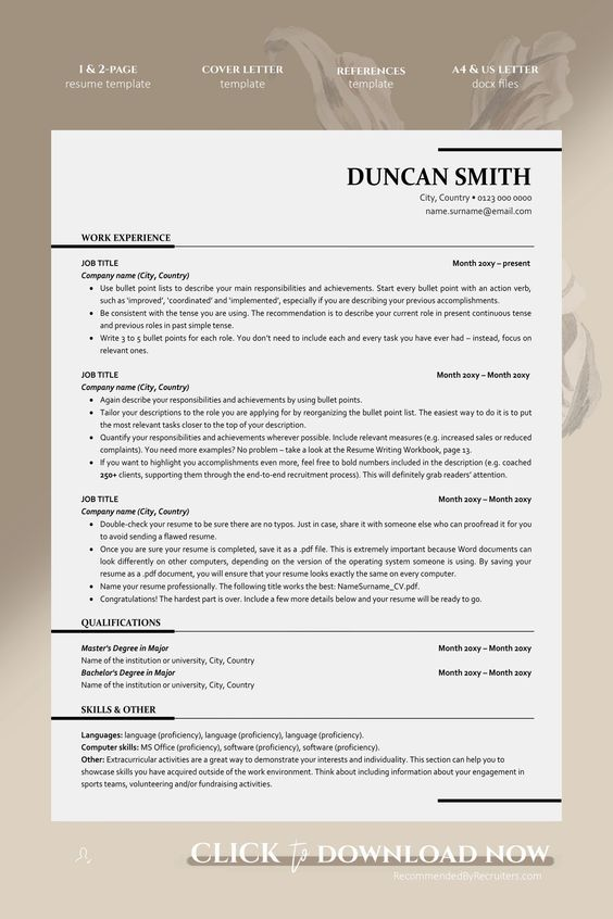 professional resume template google docs etsy in executive templates examples microsoft Resume Microsoft Office 2020 Resume
