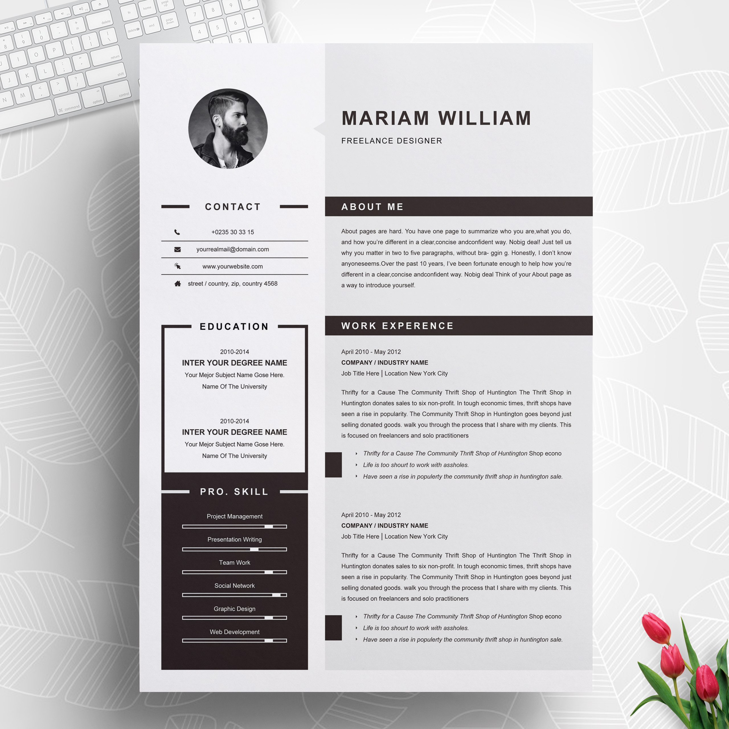 professional resume template project manager resumeinventor modern cv cover letter Resume Modern Project Manager Resume