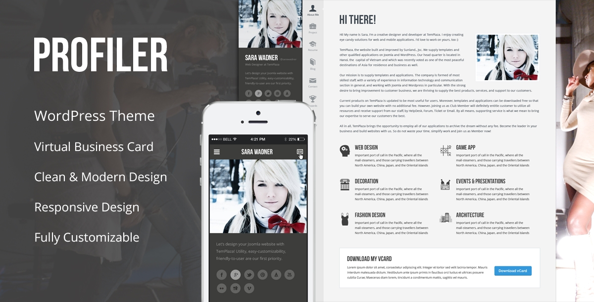 profiler vcard resume wordpress theme documentation barista duties federal creator Resume Profiler Vcard Resume Wordpress Theme