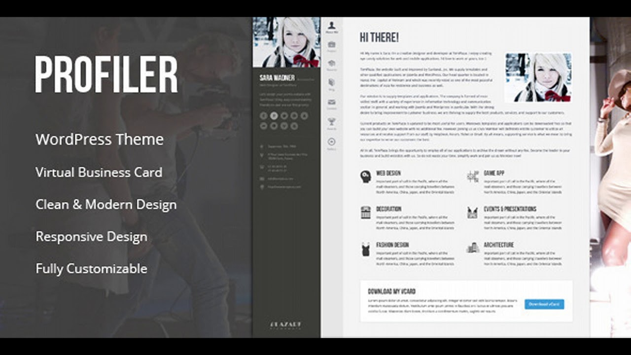 profiler vcard resume wordpress theme themeforest website templates and themes objective Resume Profiler Vcard Resume Wordpress Theme