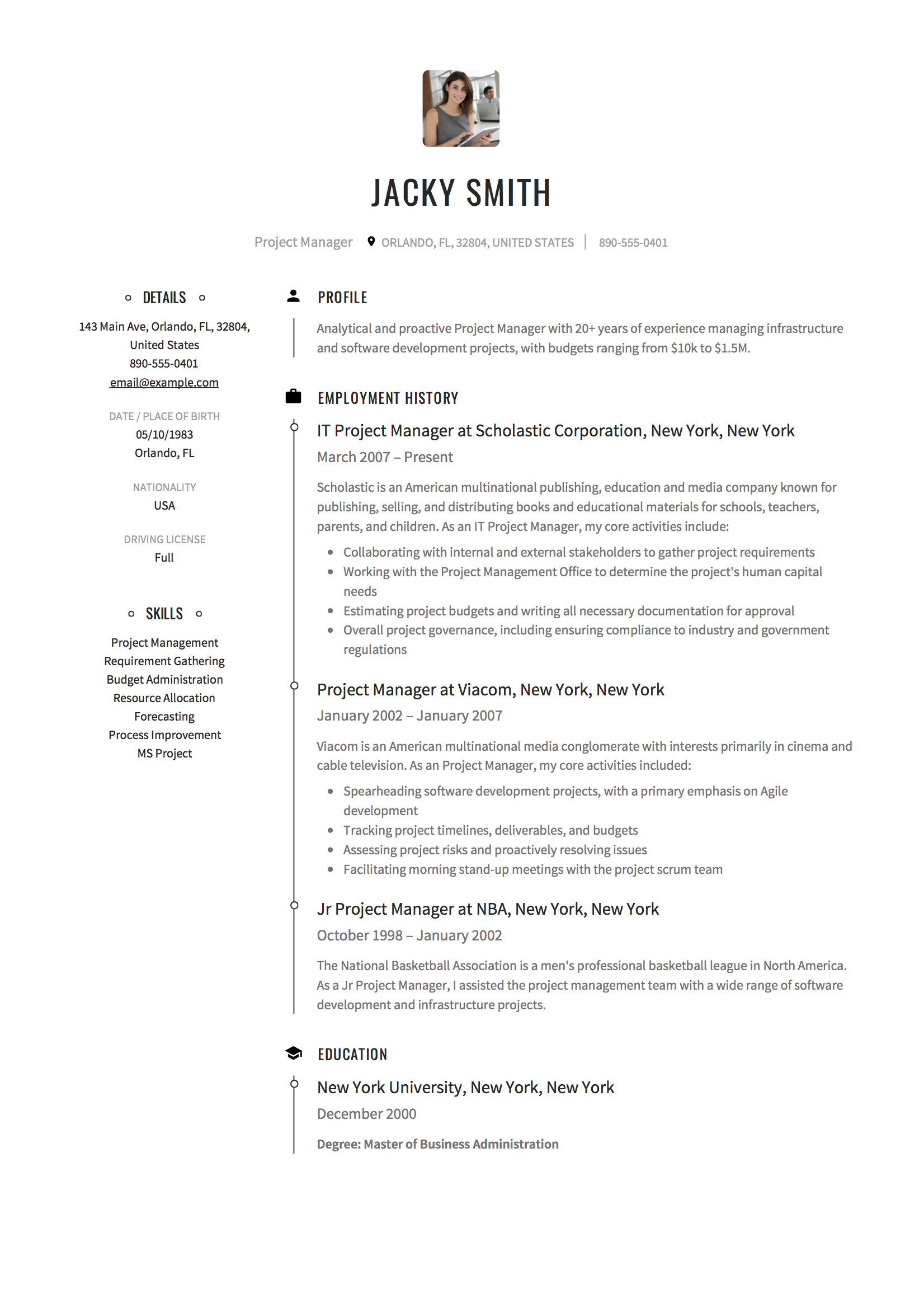 project manager resume examples full guide pdf word modern clinic political candidate Resume Modern Project Manager Resume