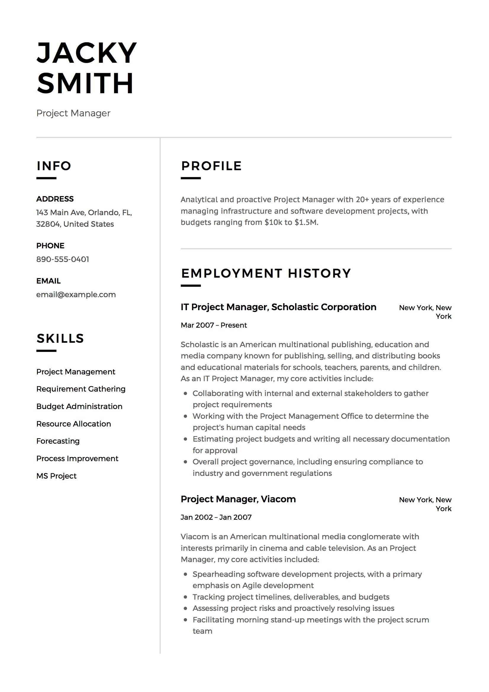 project manager resume examples full guide pdf word modern political candidate sample Resume Modern Project Manager Resume