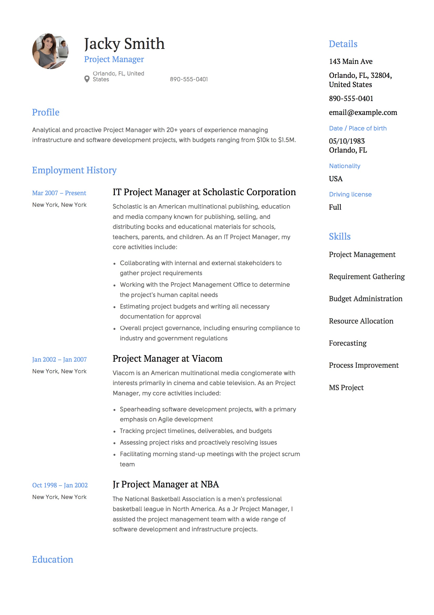 project manager resume examples full guide pdf word oriented template microsoft suite on Resume Project Oriented Resume