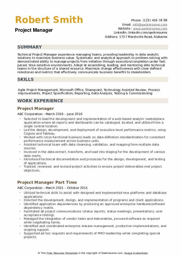 project manager resume samples qwikresume duties pdf career objective for pharmacist Resume Project Manager Duties Resume