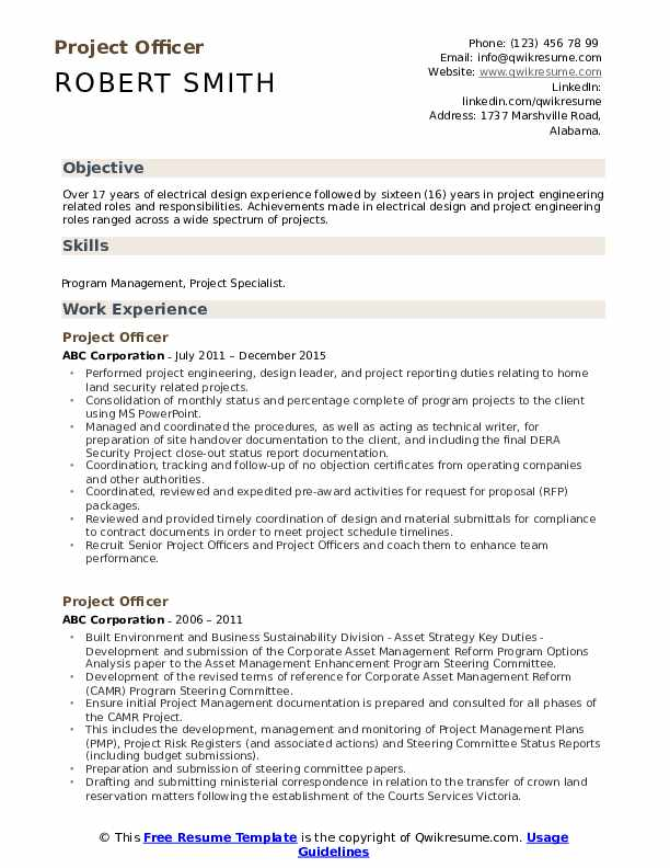 project officer resume samples qwikresume oriented pdf entry level graphic design Resume Project Oriented Resume