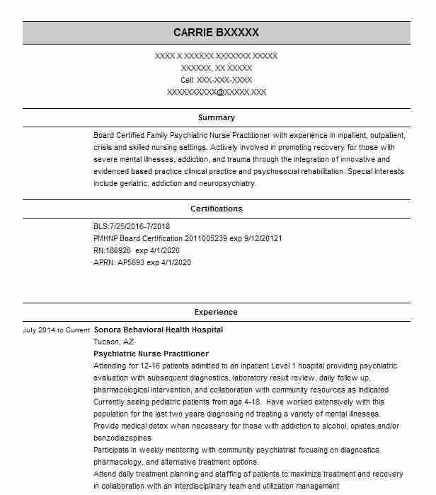 psychiatric nurse practitioner resume example wellness center new sample lifeguard Resume Psychiatric Nurse Practitioner Resume Sample