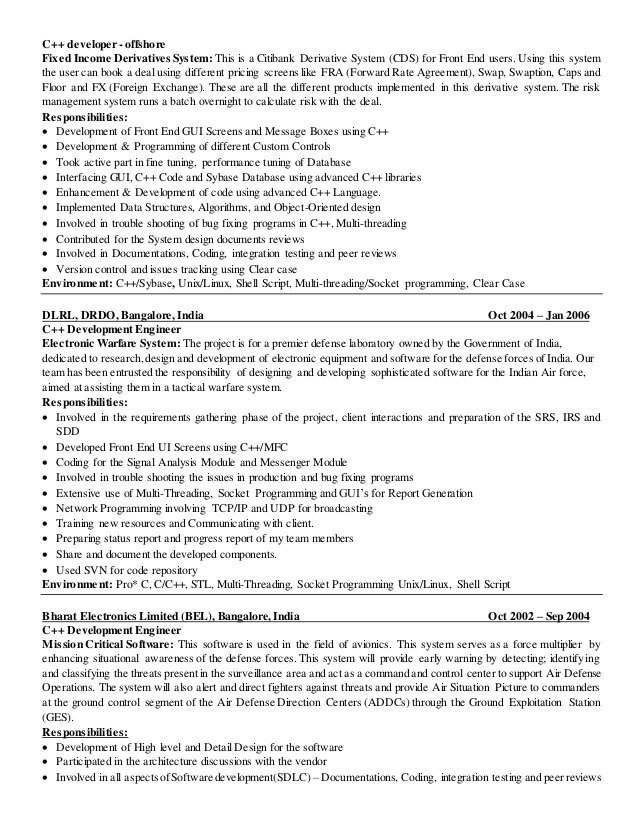 python linux developer resume projects for cpythonlinux florist sample entry level Resume C++ Projects For Resume