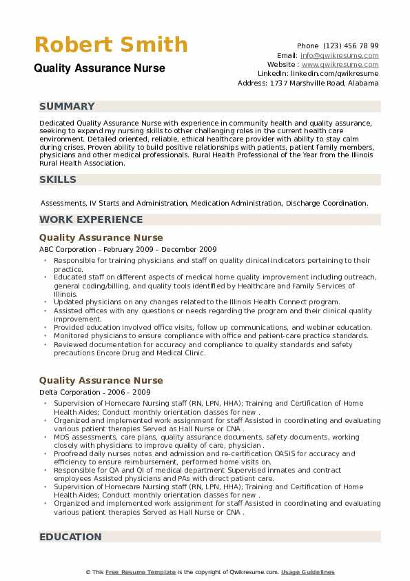 quality assurance nurse resume samples qwikresume improvement pdf business card examples Resume Quality Improvement Nurse Resume