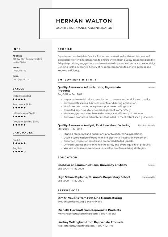 quality assurance resume examples writing tips free guide io specialist should define job Resume Quality Assurance Specialist Resume