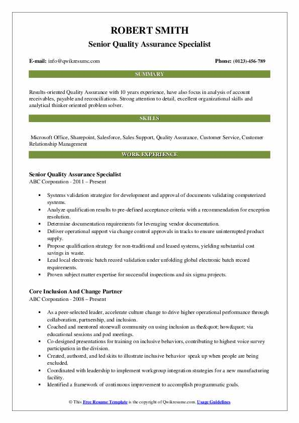 quality assurance specialist resume samples qwikresume pdf simple examples credit and Resume Quality Assurance Specialist Resume
