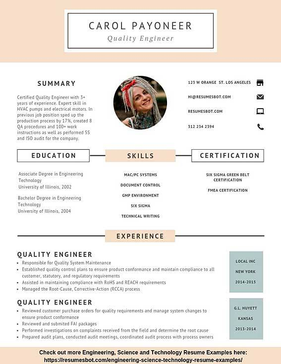 quality engineer resume samples templates pdf resumes bot objective sample writing an for Resume Quality Engineer Resume Objective