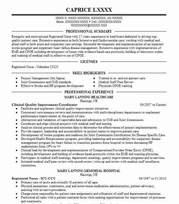 quality improvement nurse resume example vna health care bartlett gis analyst business Resume Quality Improvement Nurse Resume