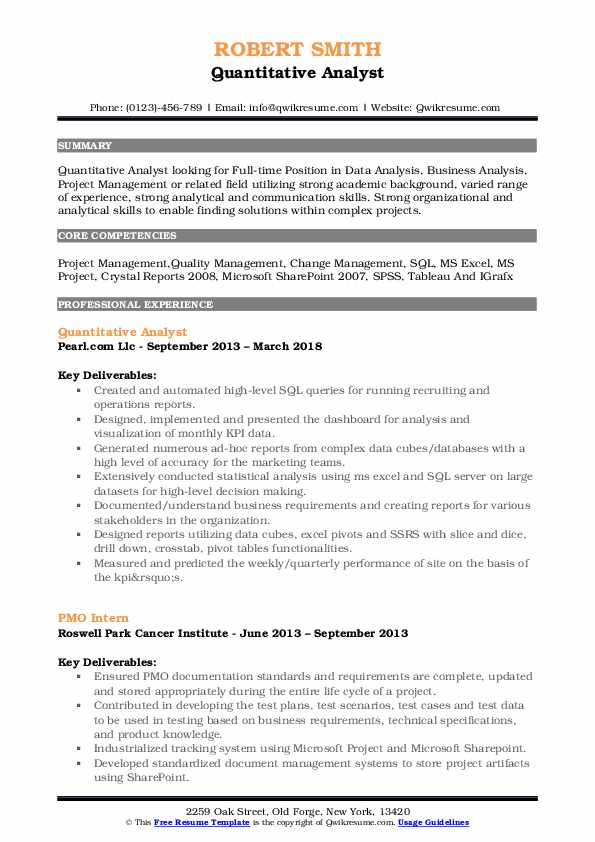 quantitative analyst resume samples qwikresume examples pdf best color for assembly Resume Quantitative Resume Examples
