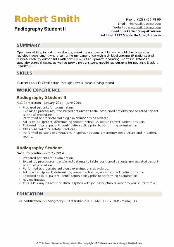 radiography student resume samples qwikresume radiologist duties and responsibilities pdf Resume Radiologist Duties And Responsibilities Resume