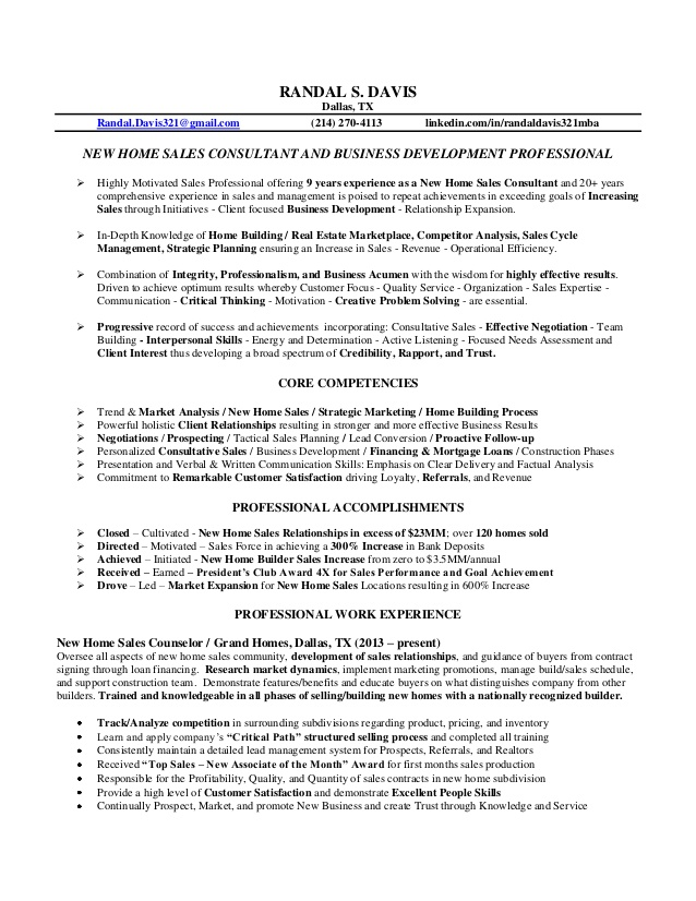 randal resume new home business initiatives consultant computer science template reddit Resume Business Initiatives Consultant Resume