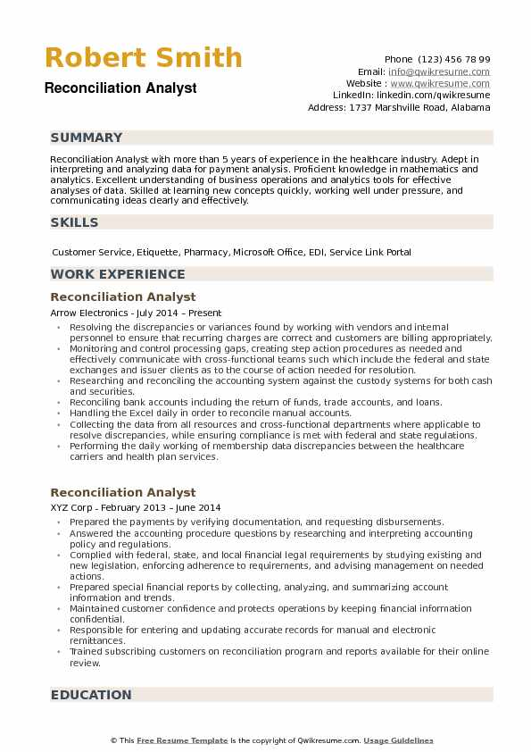 reconciliation analyst resume samples qwikresume account pdf summary examples for Resume Account Reconciliation Resume