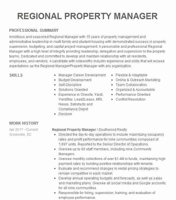 regional property manager resume example tandem hillsboro firefighter template executive Resume Regional Manager Resume