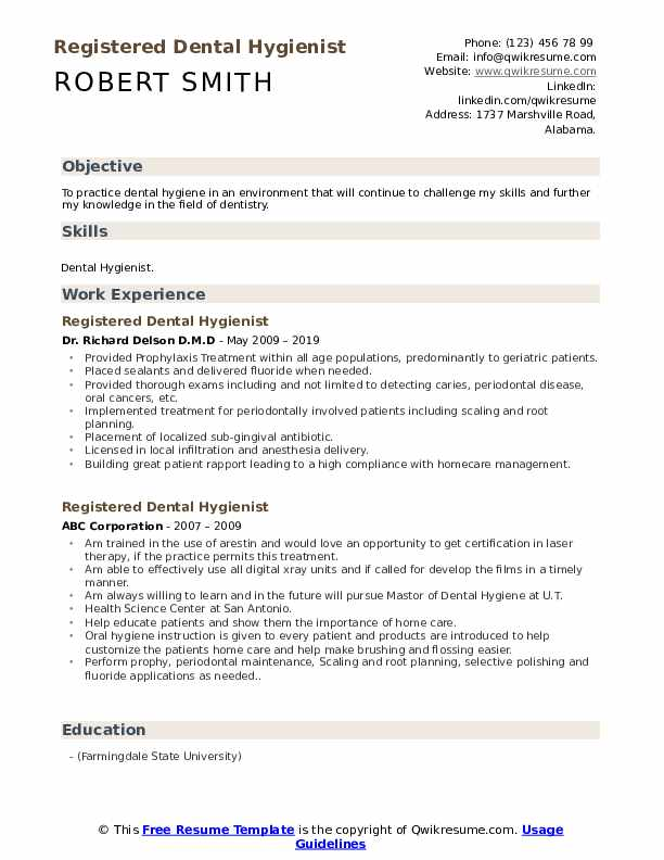 registered dental hygienist resume samples qwikresume hygiene format pdf bld customer Resume Dental Hygiene Resume Format