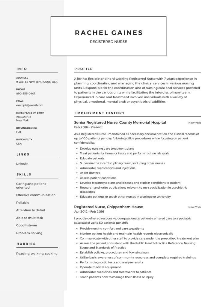 registered nurse resume sample writing guide samples pdf new template example 724x1024 Resume New Registered Nurse Resume Template