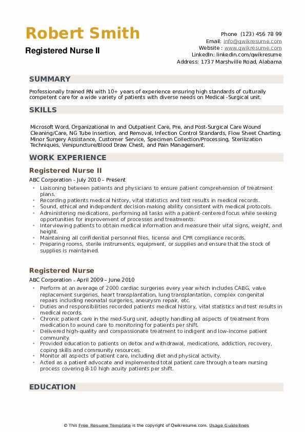 registered nurse resume samples qwikresume new template pdf medical lab canva best simple Resume New Registered Nurse Resume Template