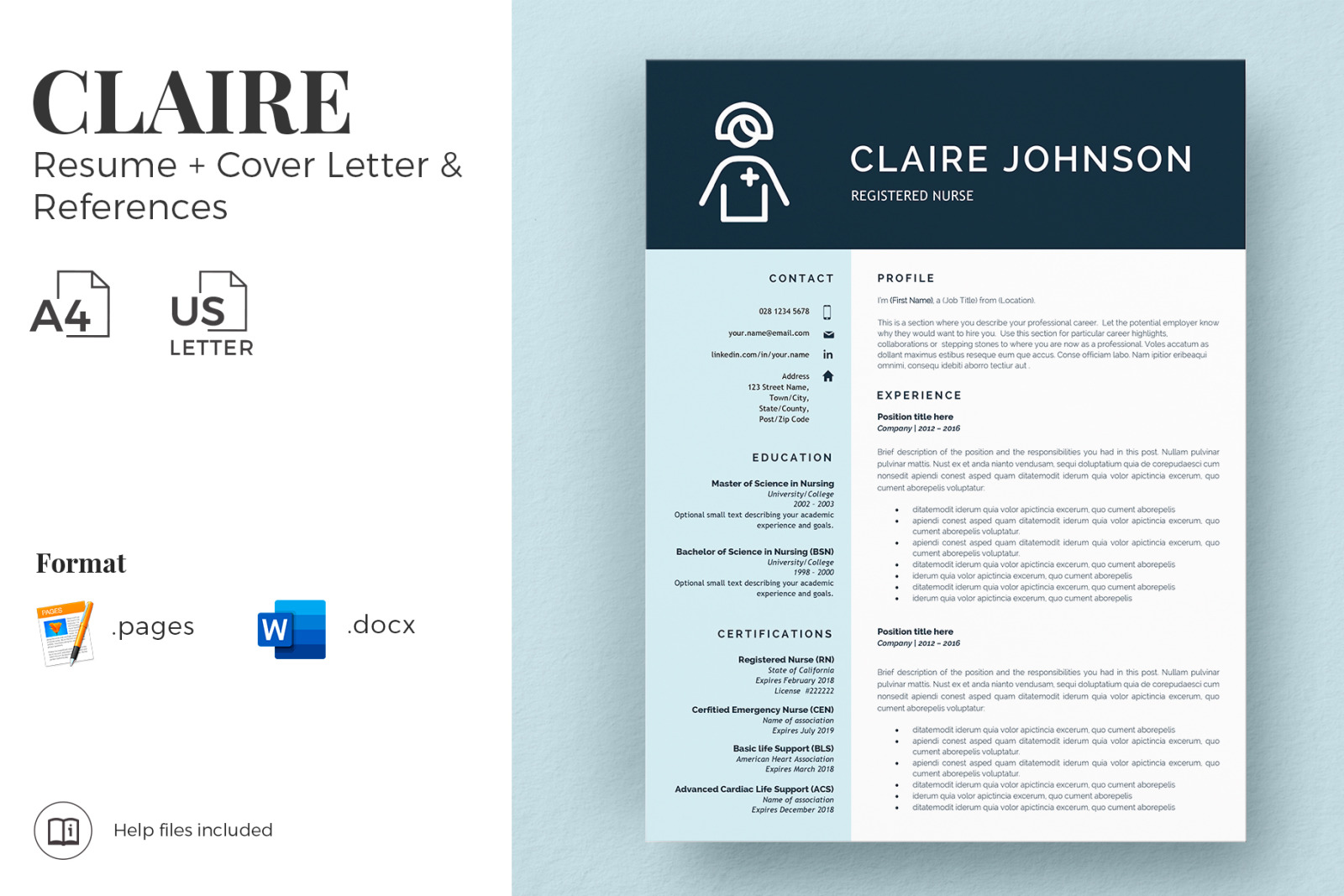 registered nurse resume template new grad cv cover letter and references for word in Resume New Graduate Rn Resume Template