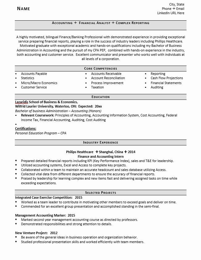 relevant coursework resume example lovely entry level accountant tips in accounting Resume Related Coursework Resume