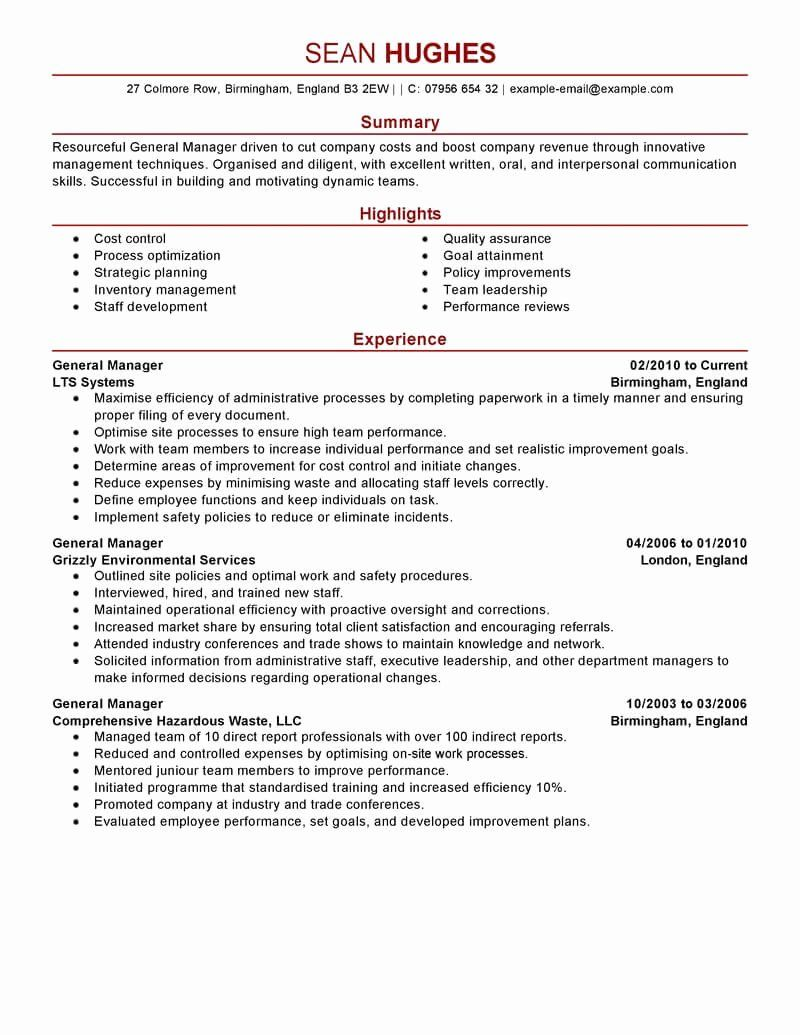 restaurant manager resume examples best of general example in good skills for marketing Resume Skills For Restaurant Manager Resume