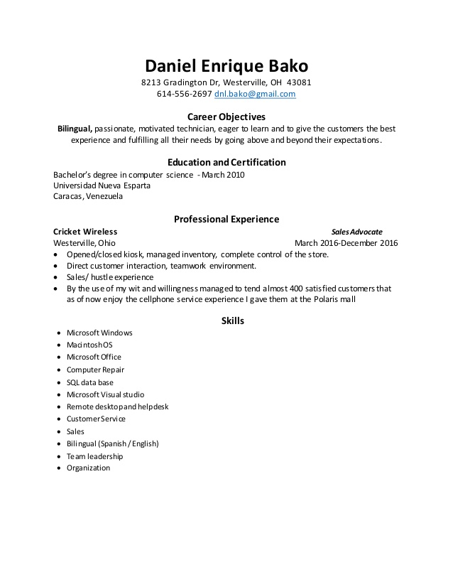 resume apple cricket wireless samples skills and competencies babysitting duties on for Resume Cricket Wireless Resume