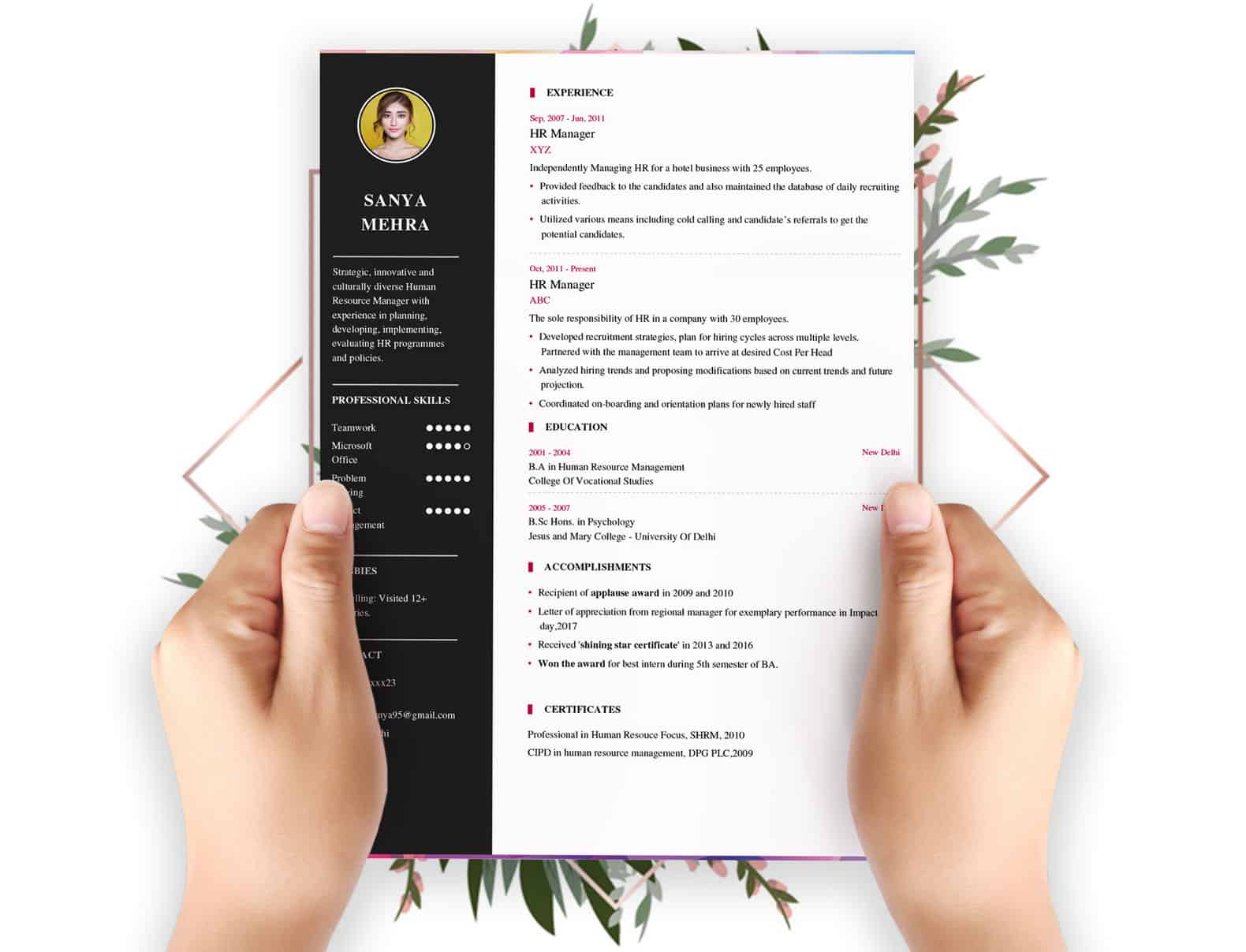 resume builder my format free and job board modern template describe the four main types Resume Free Modern Resume Builder