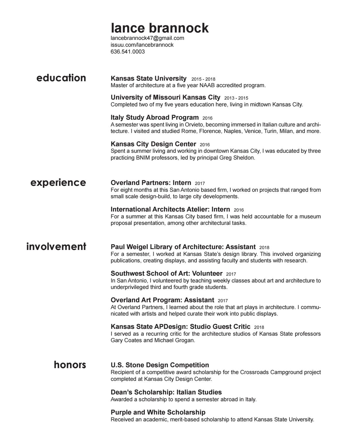 resume by lance brannock issuu study abroad experience on good examples of skills and Resume Study Abroad Experience On Resume