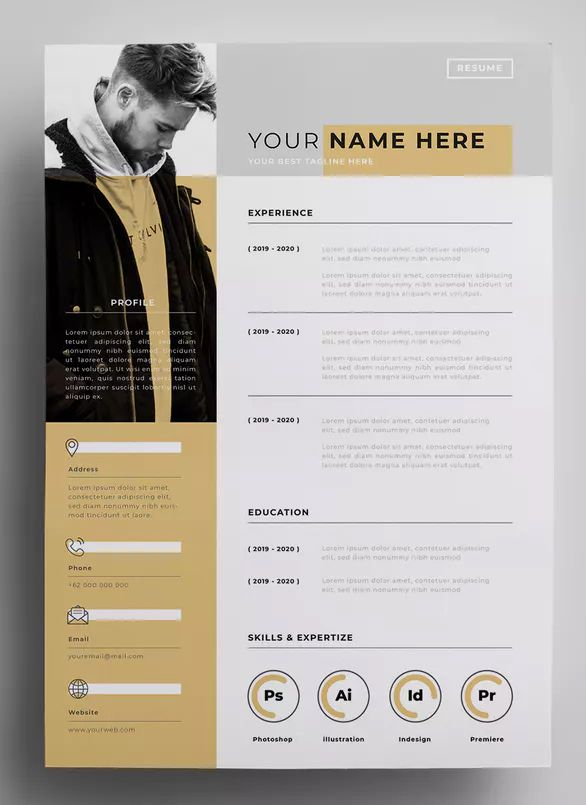 resume design templates by surotype on envato elements graphic cv rpa uipath developer Resume Graphic Design Resume 2020