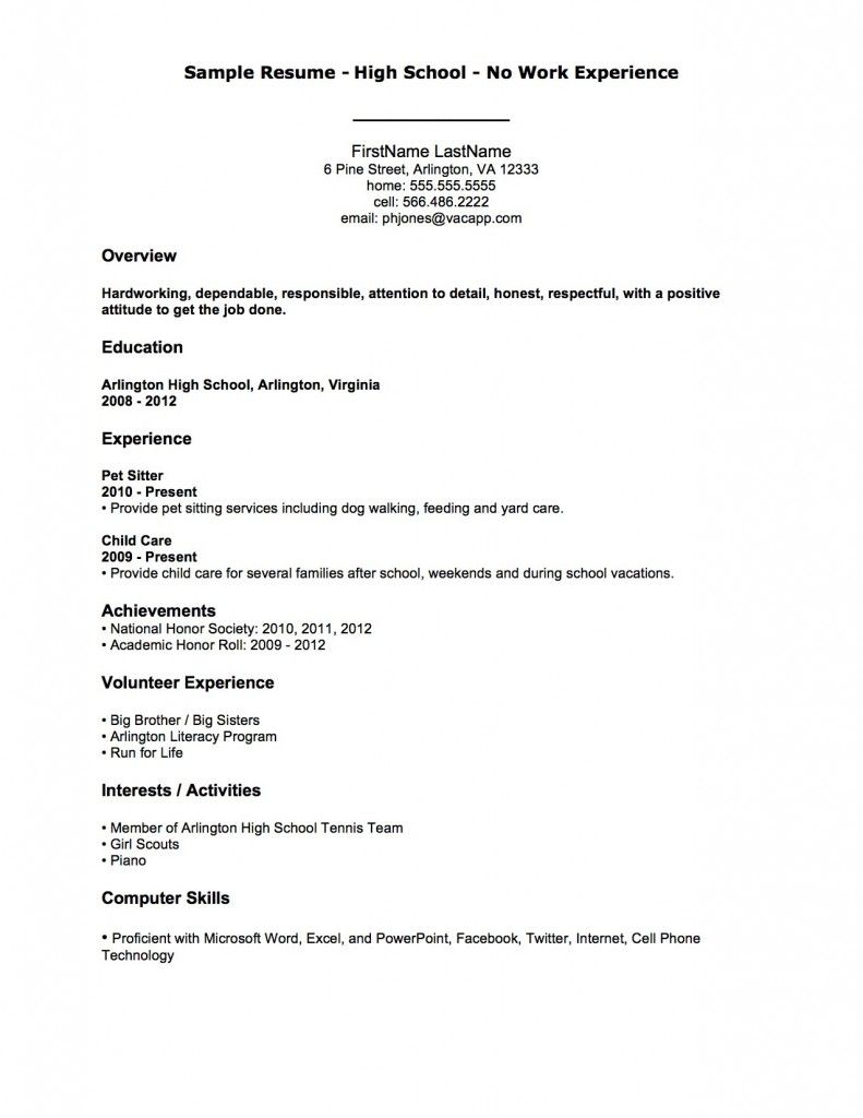 resume examples after first job template high school sample secretary example free styles Resume First Job High School Resume Sample
