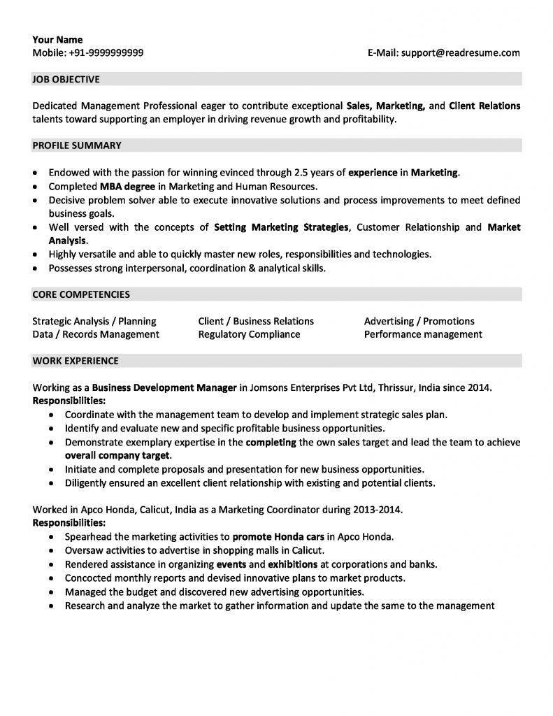 resume examples years experience marketing format out of work for transportation ob gyn Resume Resume Out Of Work For Years