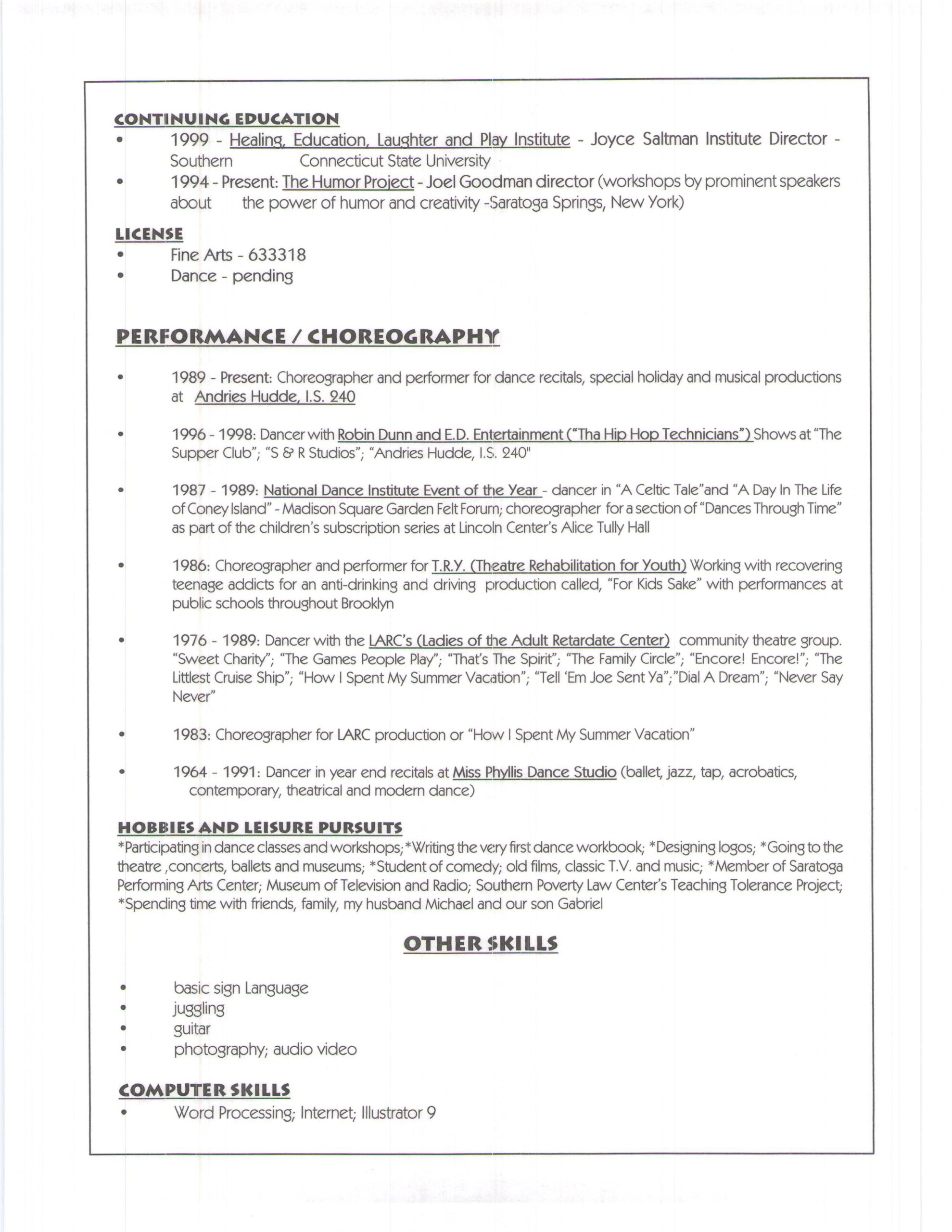 resume for jamee schleifer teacher files continuing education letter of recommendation on Resume Continuing Education On Resume