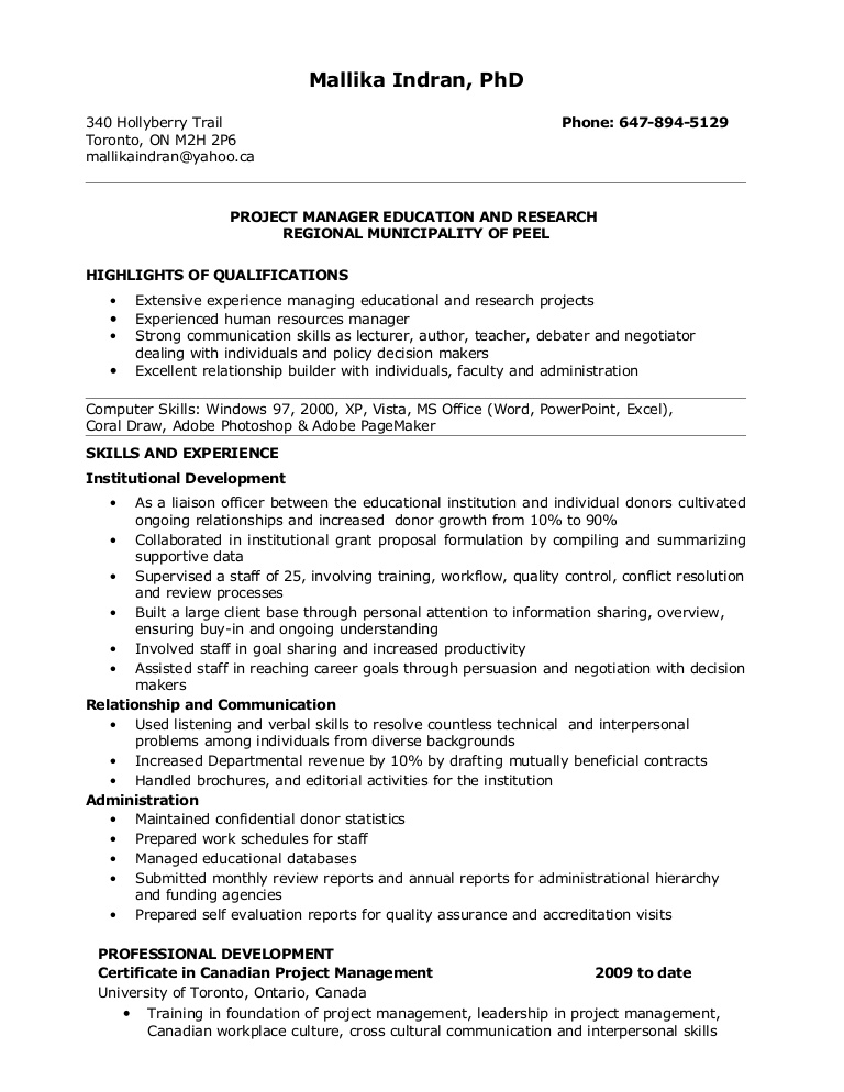 resume for project manager position duties resumeforprojectmanagerposition phpapp01 Resume Project Manager Duties Resume