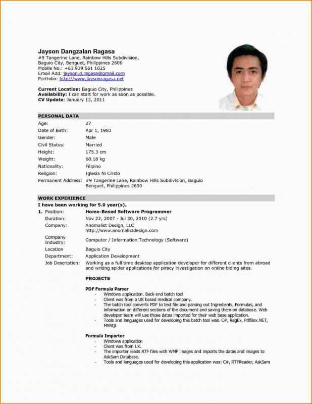 resume format for abroad job word file best ideas sample work endoscopy rn music Resume Resume Sample For Work Abroad